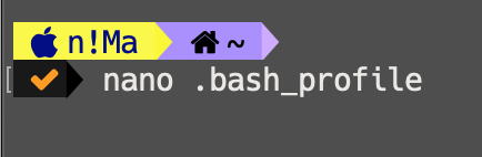 ویرایش فایل bash_profile