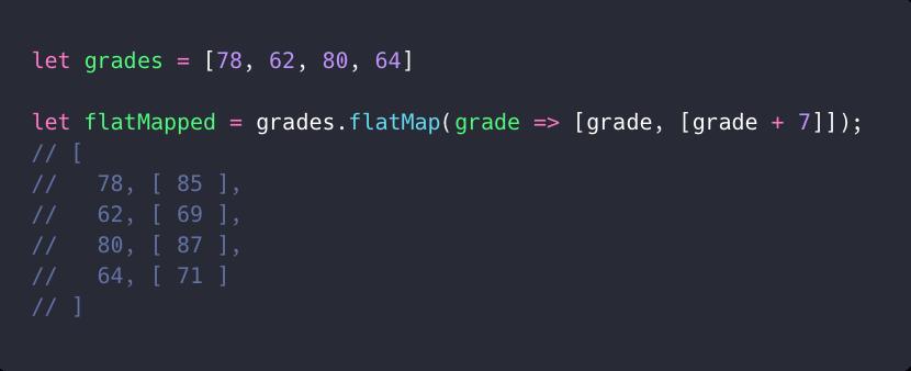 عمق مسطح سازی متد flatMap همیشه برابر با ۱ هست