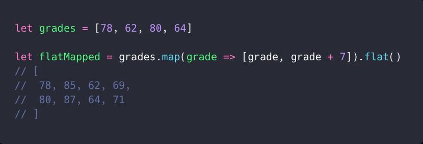 استفاده از flat و map بر روی یک لیست
