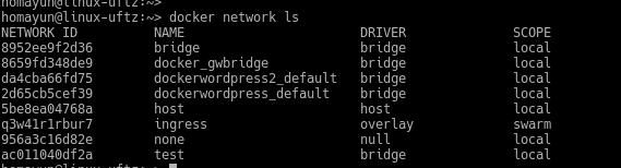 مفهوم شبکه در docker