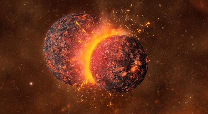 نبرد زمین و تیا و متولد شدن ماه!(قسمت دوم تولد منظومه شمسی)