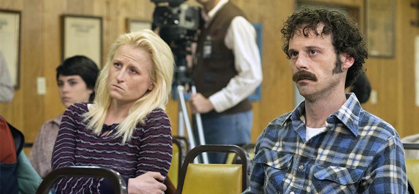 تام و لوسی در دادگاهی که وودارد متهم شناخته شد / سال ۱۹۸۰