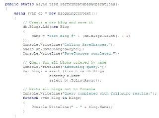 متد های async در Entity Framework