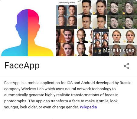 فیس اپ محصول یک شرکت روسی است!