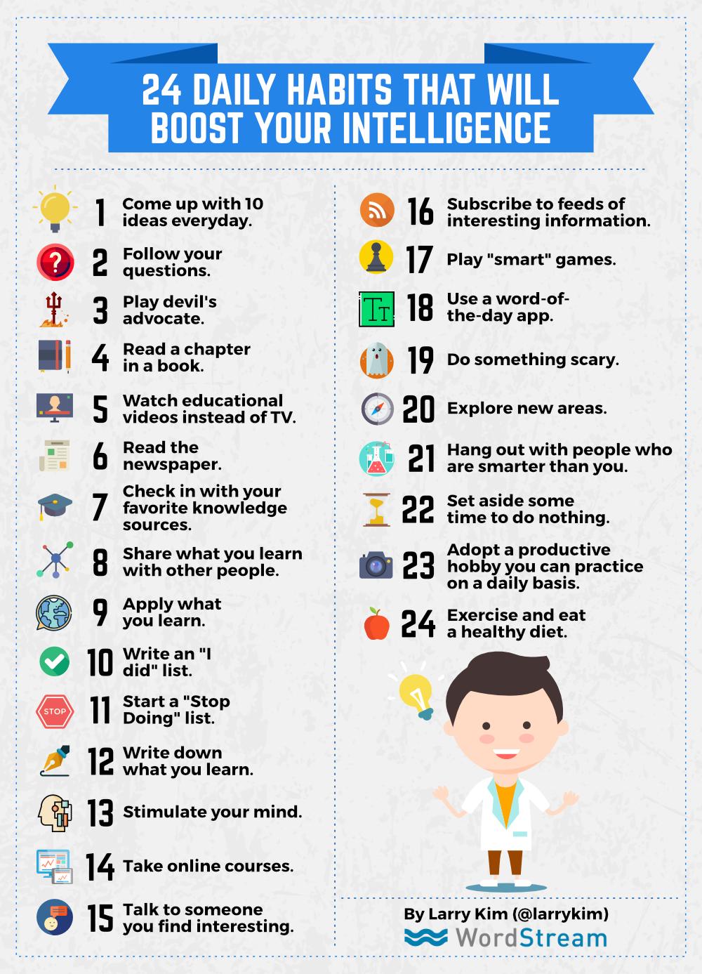 ۲۴ راه ساده و روزمره برای افزایش هوش