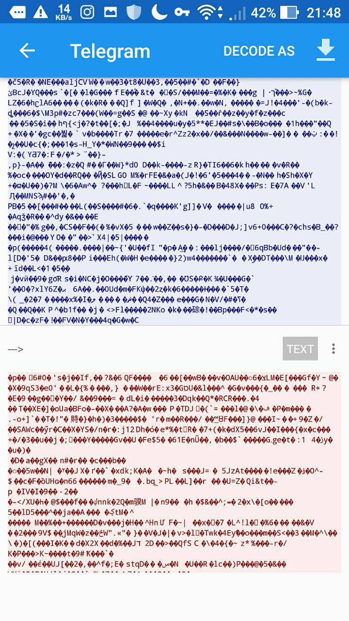 این هم حسن ختام بحث و رمزنگاری تلگرام :)