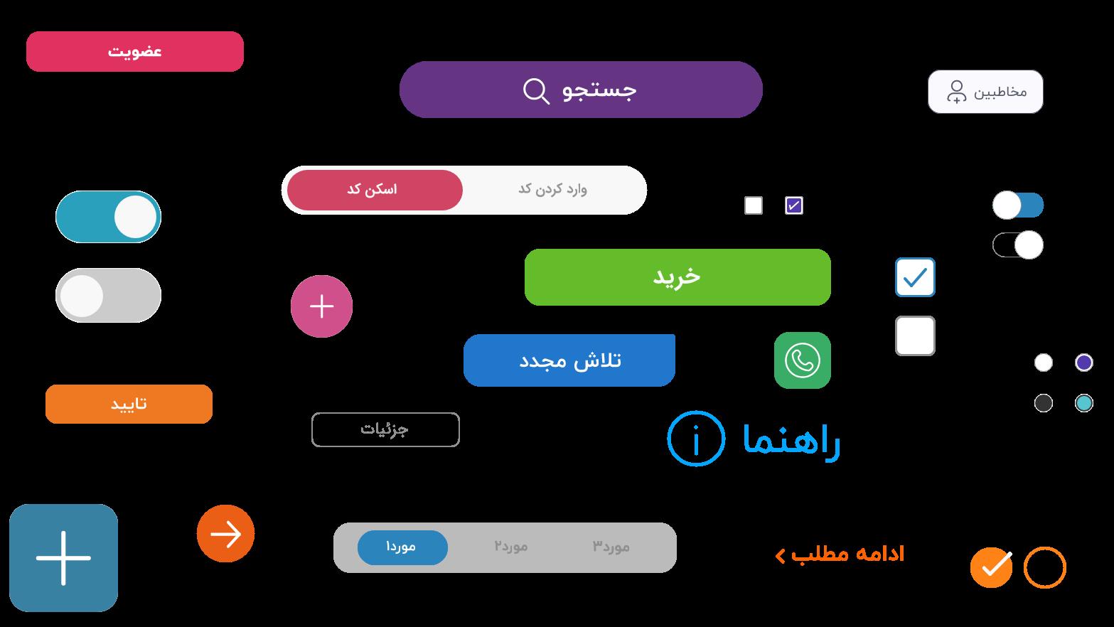طراحی دکمههای دیجیتال