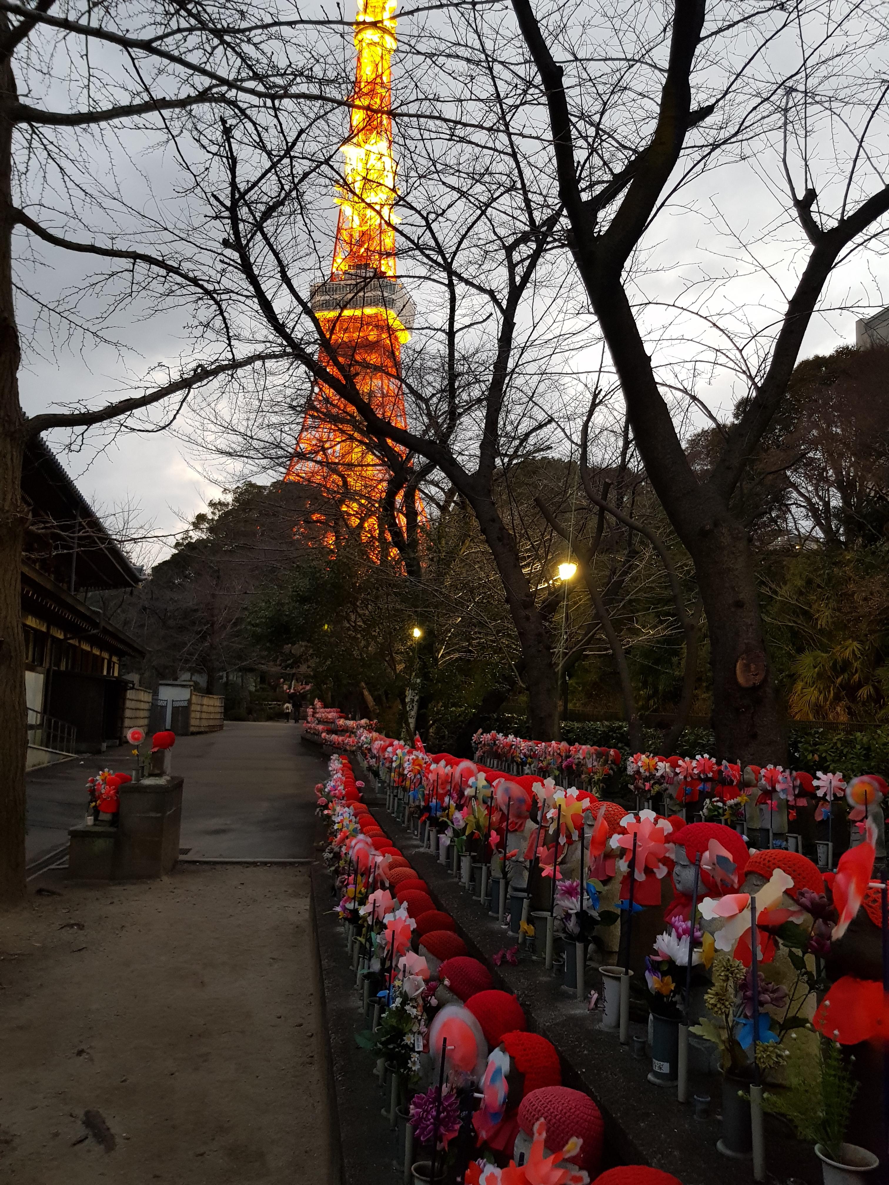 مجسمه های جیزو معبد zojoji