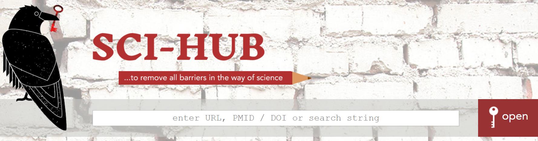 صفحه اول سایت Sci-Hub ، بهترین سایت برای پیدا کردن مقالات علمی