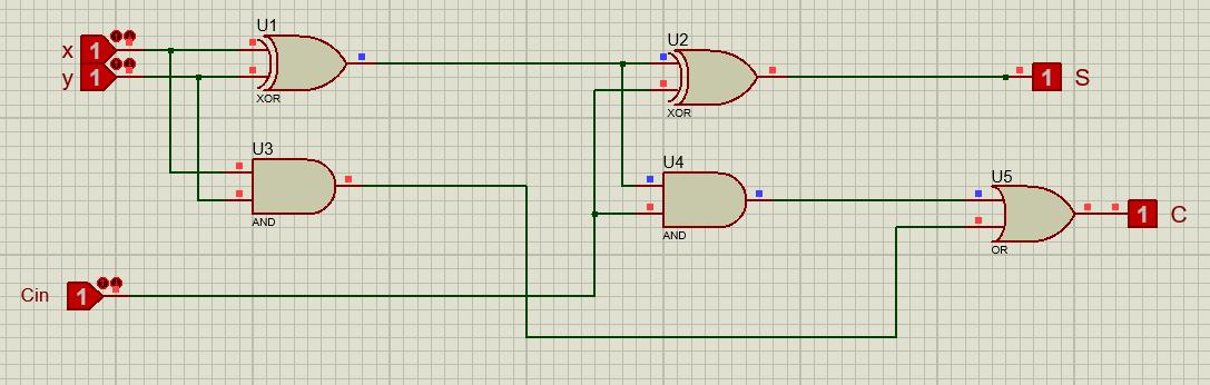 ساخت یک جمع کننده اعداد دو دویی(full adder) بخش اول