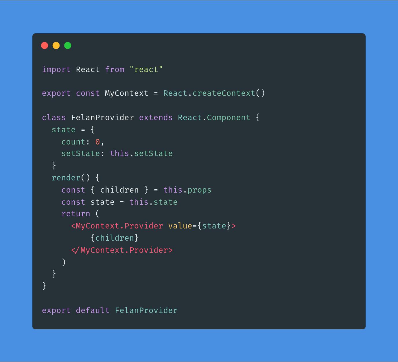 این روش خیلی بهتره ولی خوانایی کافی رو نداره از طرفی باعث میشه کد ما یک پارچه نباشه، به این مسئله فکر کنید که اگر به جای کلاس کامپوننت فاکنشن کامپوننت بود setState رو کجا میخواستیم قرار بدیم ؟