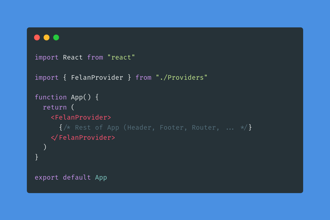 اگر از Create React App استفاده میکنید، فایل App.js رو برای اینکار انتخاب کنید