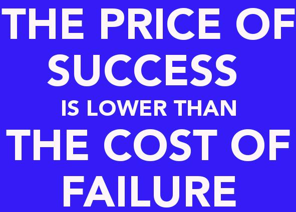 هزینه موفقیت Cost of Success