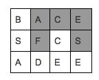 یک کلمه را در جدولی از حروف بیابید!