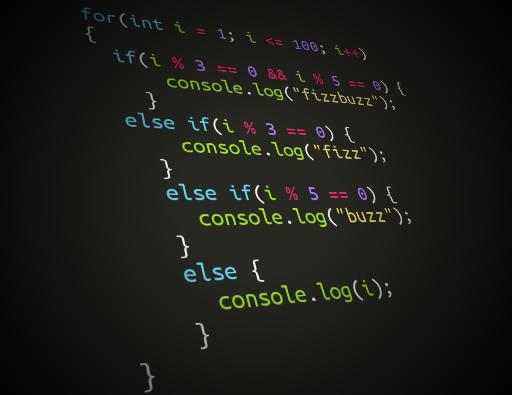 کد بازی fizzBuzz جاوا اسکریپت