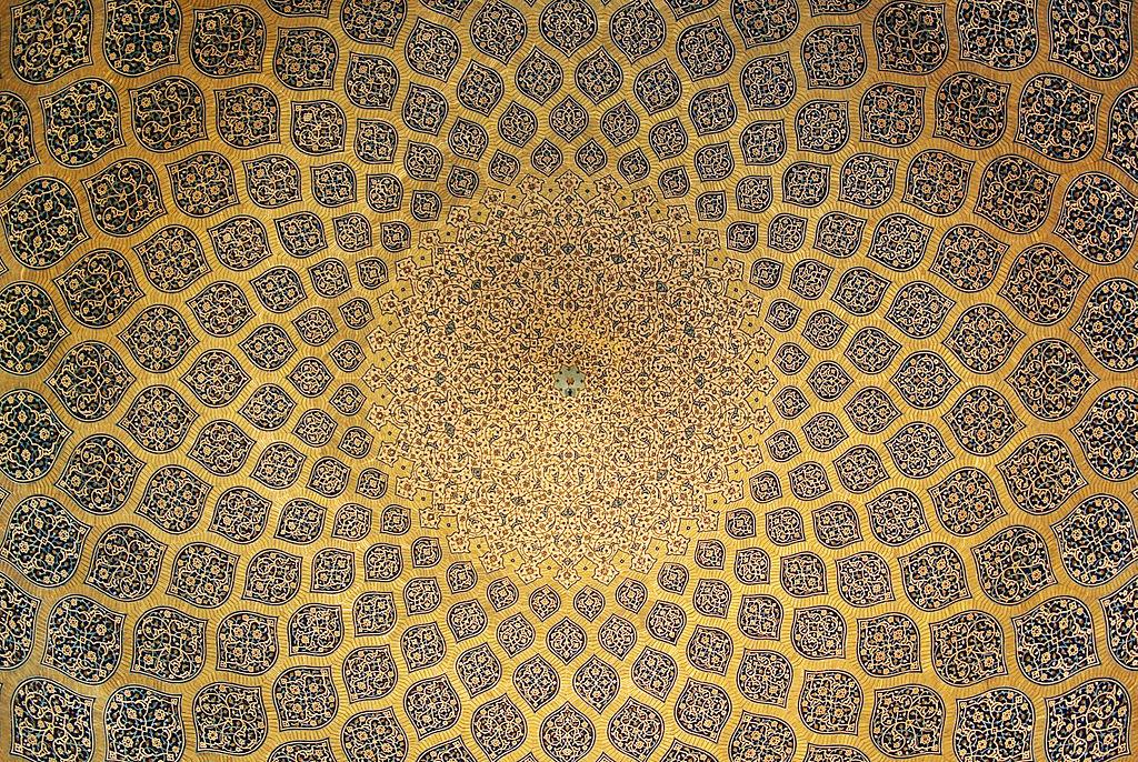 سقف مسجد شیخ لطف الله