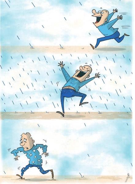 چترها را بايد بست زير باران بايد رفت،امّا نه هر بارانی!