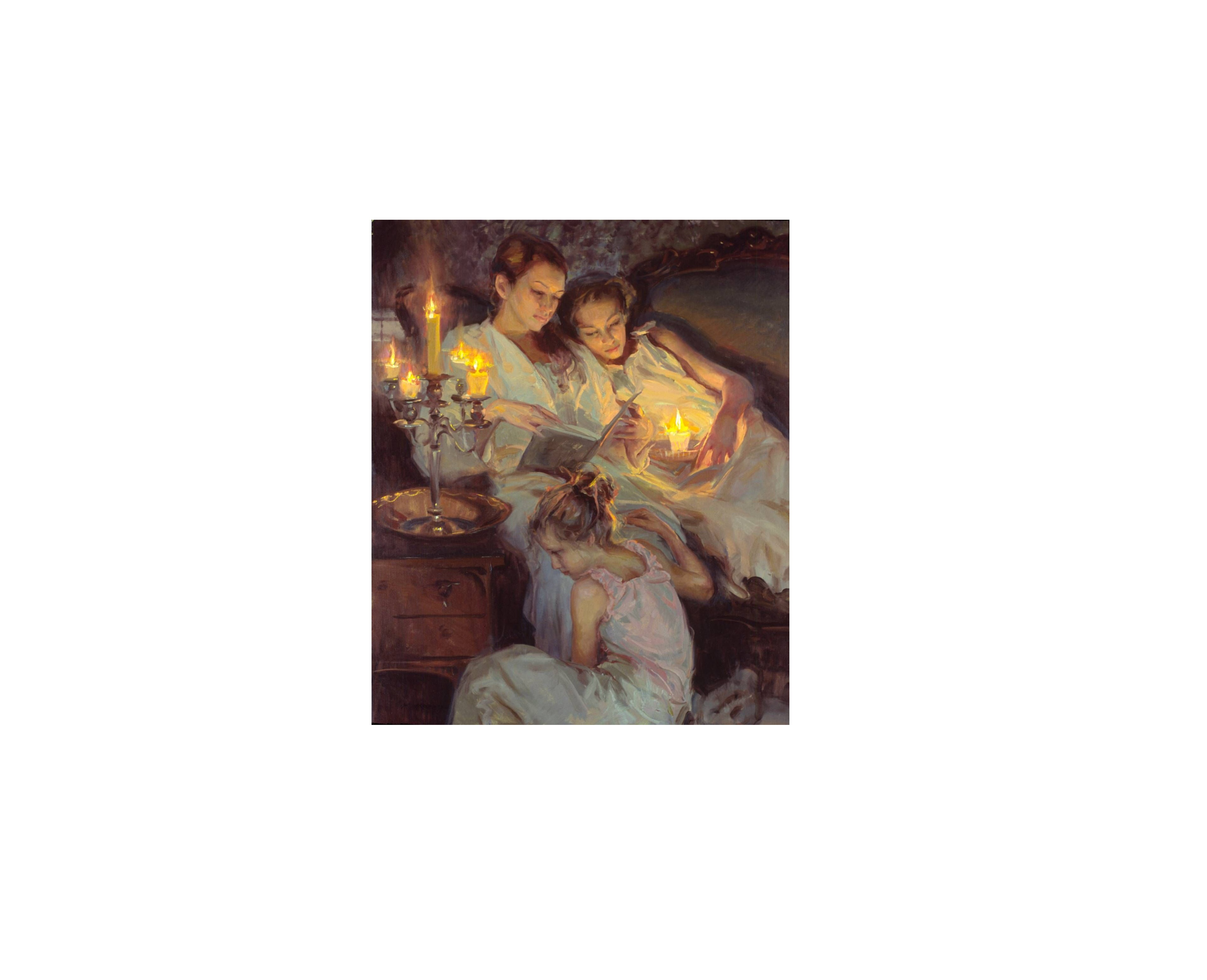 Daniel Gerhartz-Reading with daughters
