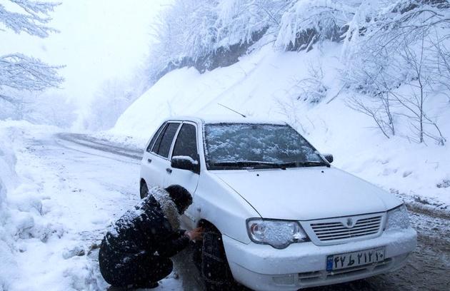 سختی های رانندگی در شرایط برفی