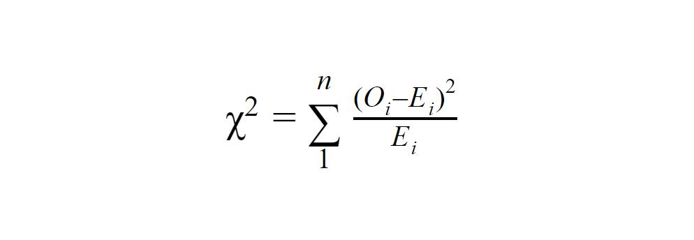 فرمول محاسبه «مربع کای»
