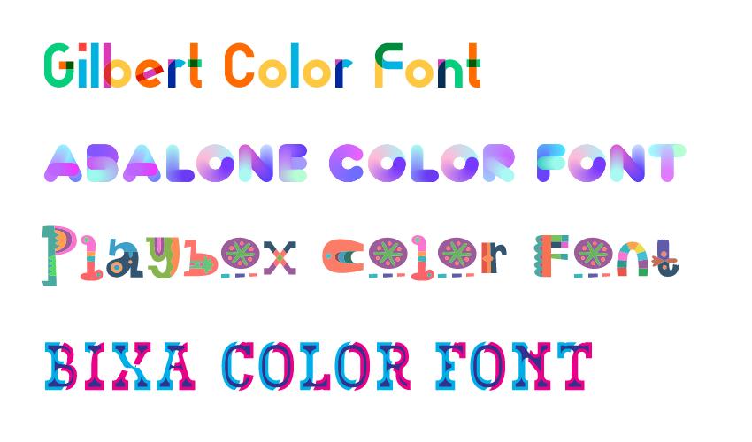 نحوه استفاده از فونت های رنگی در وب