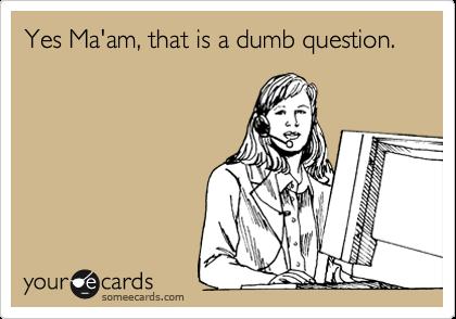 ترجمه نوشته روی عکس: بله خانم، این سوال احمقانهایه!