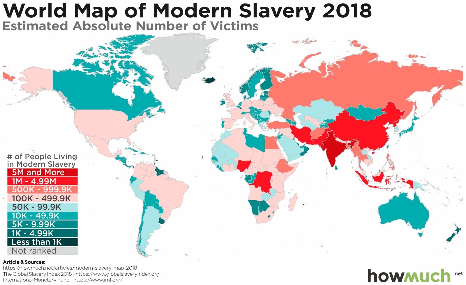 نقشهی بردهداری مدرن در دنیا - کشور عزیزمان مثل همیشه اوضاع خرابی دارد!