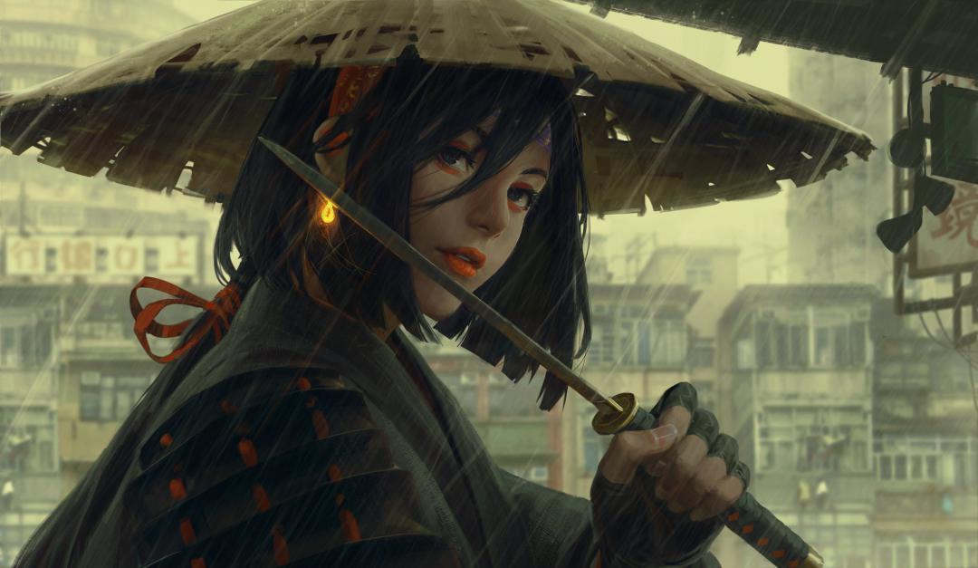 زنی سامورایی