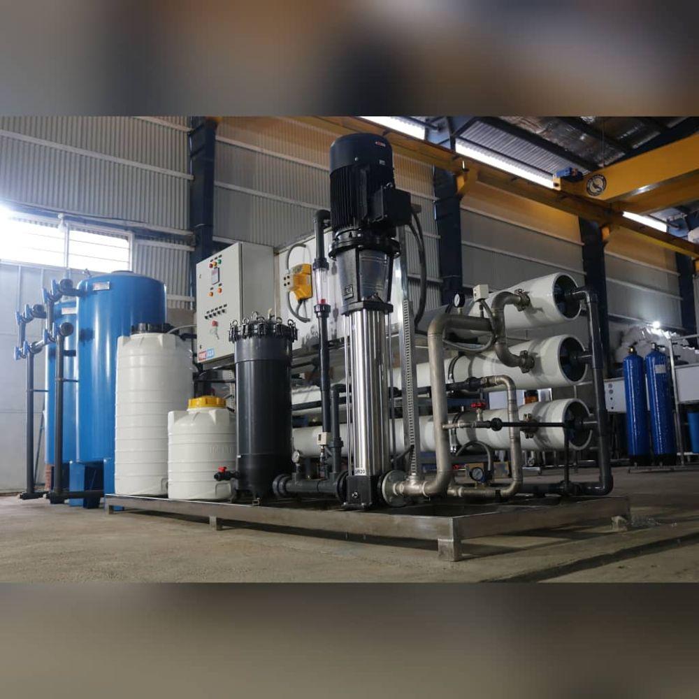 دستگاه تصفیه ابپاکسازان صننعتی با ظرفیت تولید 150 متر مکعب در شبانه روز