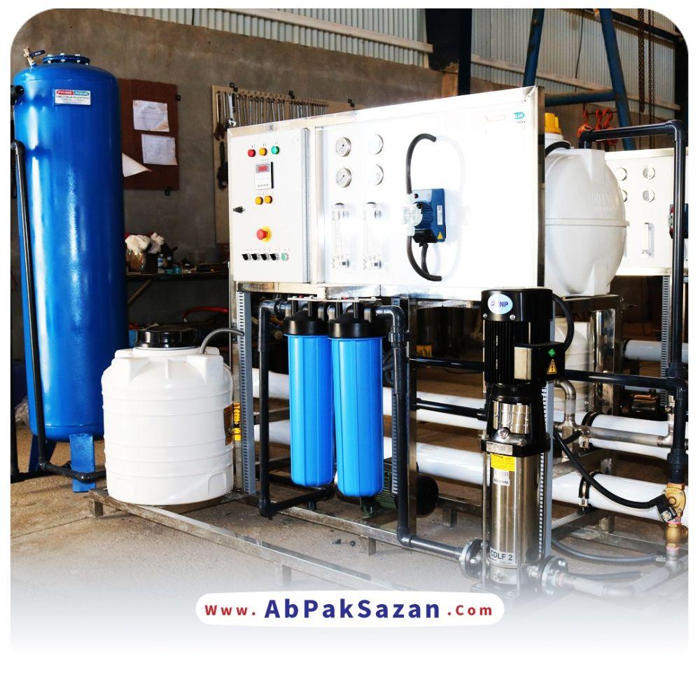 دستگاه تصفيه ابپاكسازان صنعتي با ظرفيت توليد 20 متر مكعب در شبانه روز