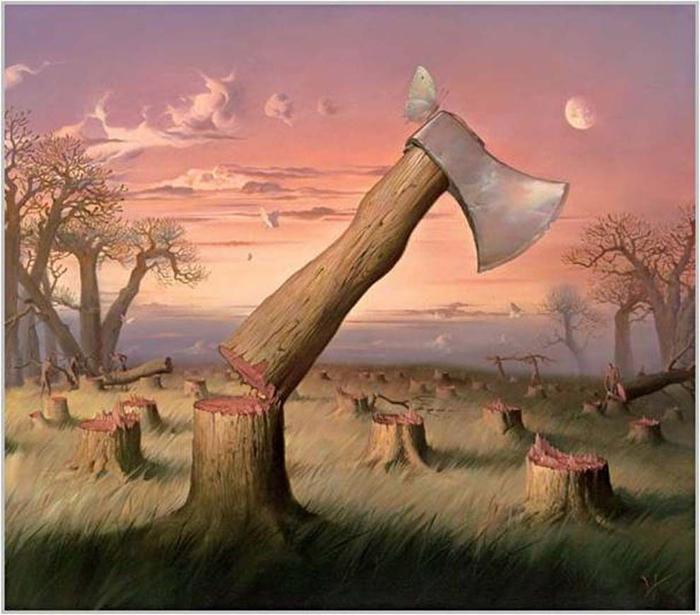 درختانی که تبر می شوند؛ ما ایستادیم و مردیم!