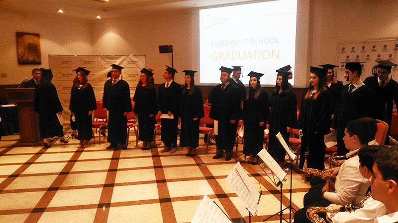 مراسم جشن فارغالتحصیلی مدرسه رهبری ارمنستان