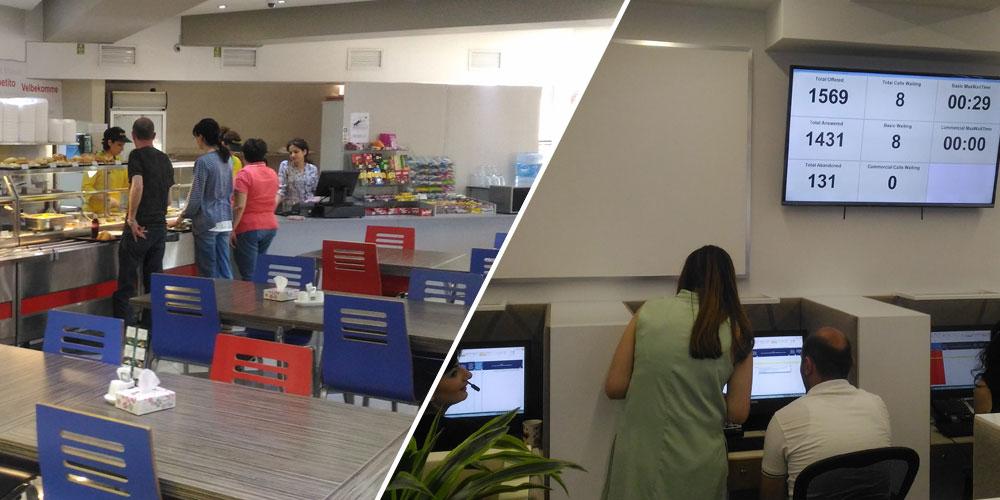 مرکز پشتیبانی و سالن غذاخوری VIVACell MTS