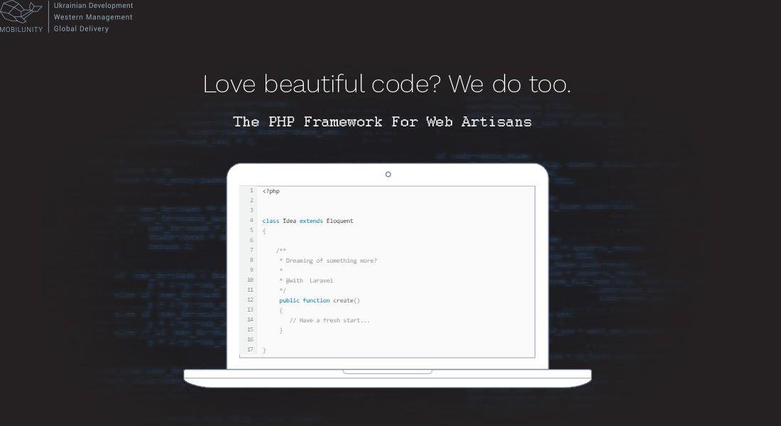 شعار لاراول: از کد زیبا خوشتان میآید؟ ما هم همین طور.