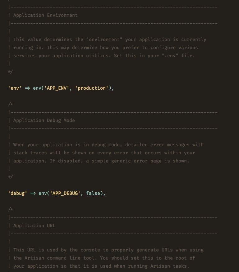 نمایی از فایل تنظیمات پروژه