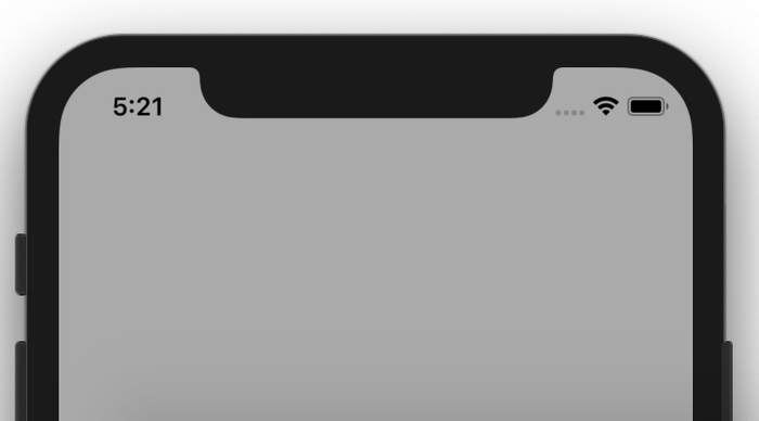 تغییر رنگ استوس بار در iOS
