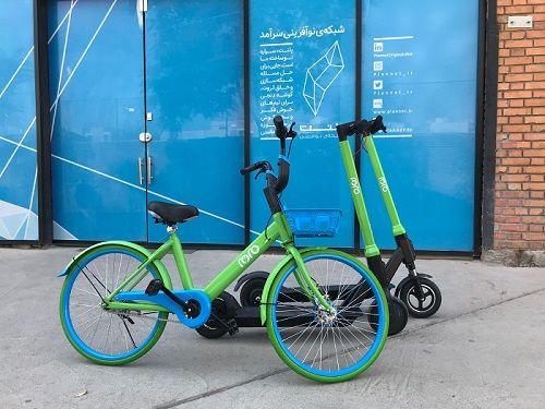 شکل 7- دوچرخه و اسکوتر برقی شرکت رورو