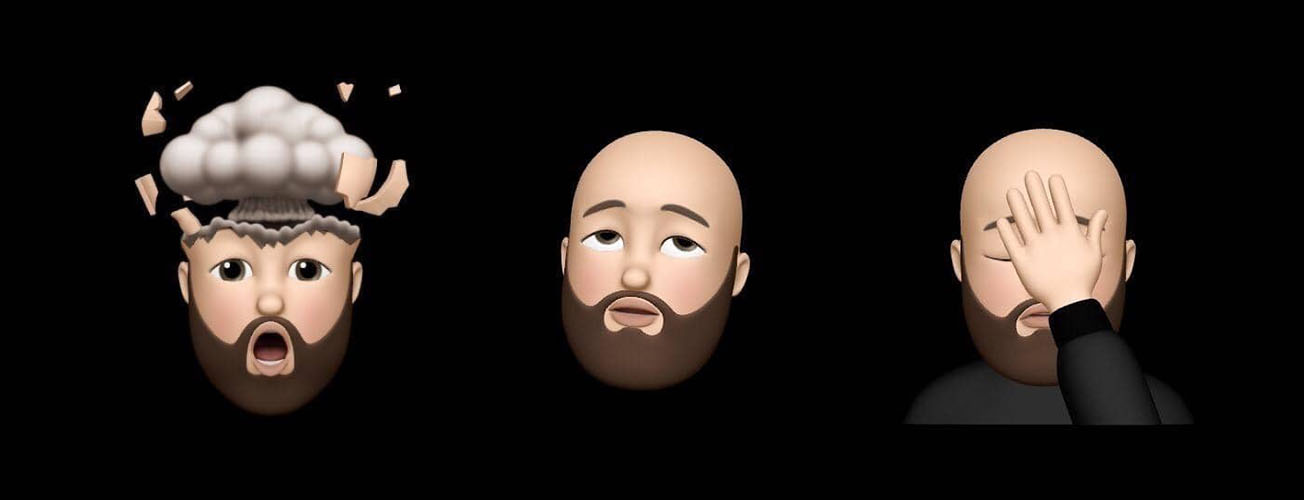 My face modes - from left to right
