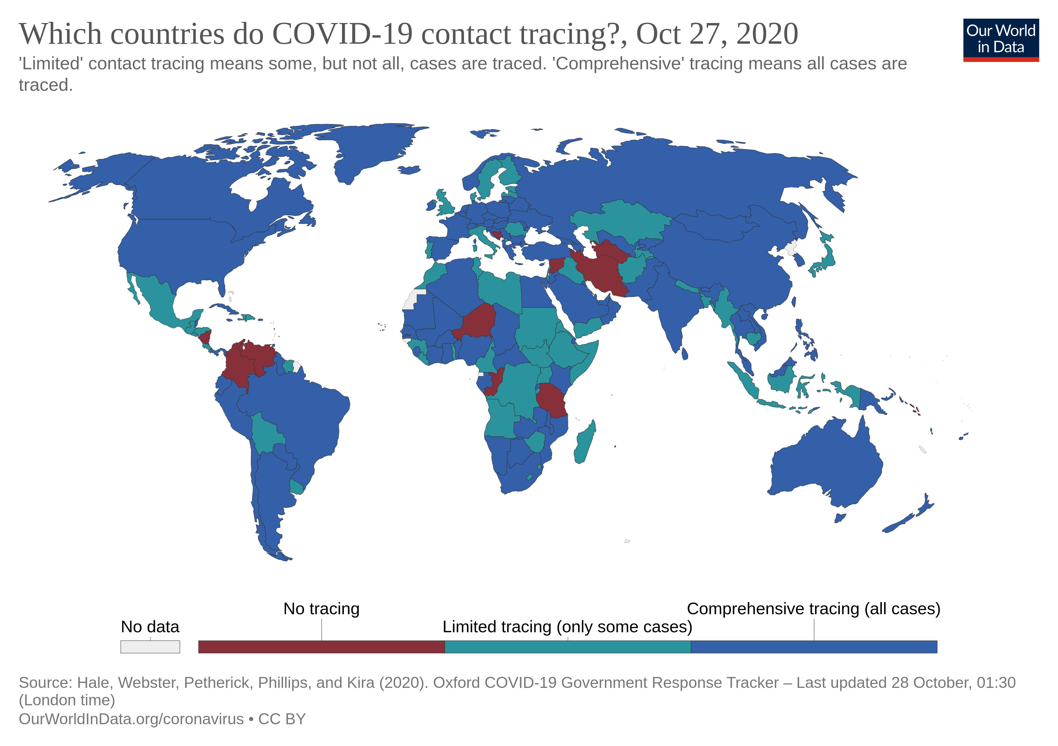 نمودار ۹ - مقایسه برنامه  ردیابی بیماران در کشورهای مختلف