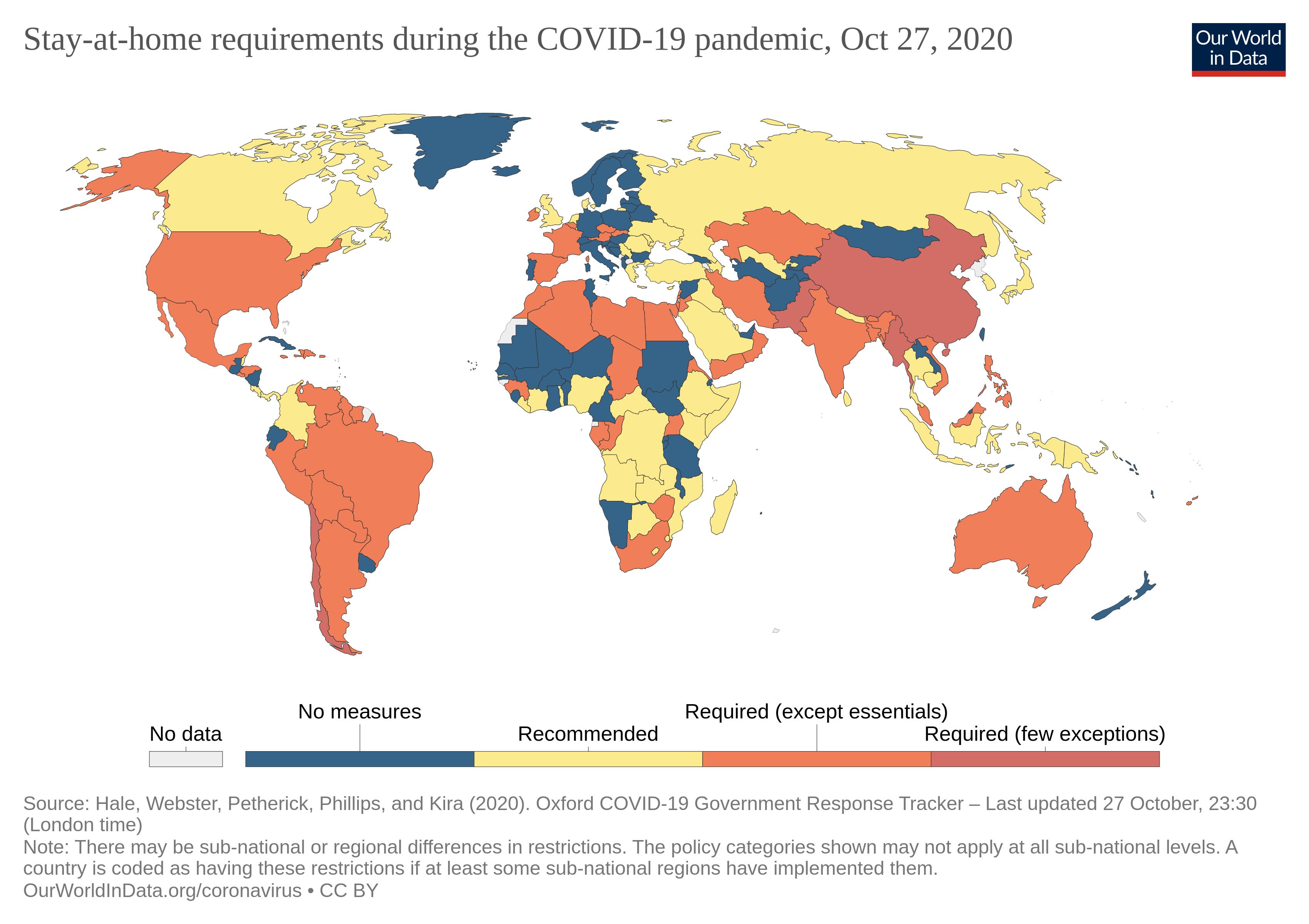 نمودار ۴ - مقایسه قوانین محدود کننده در کشورهای جهان