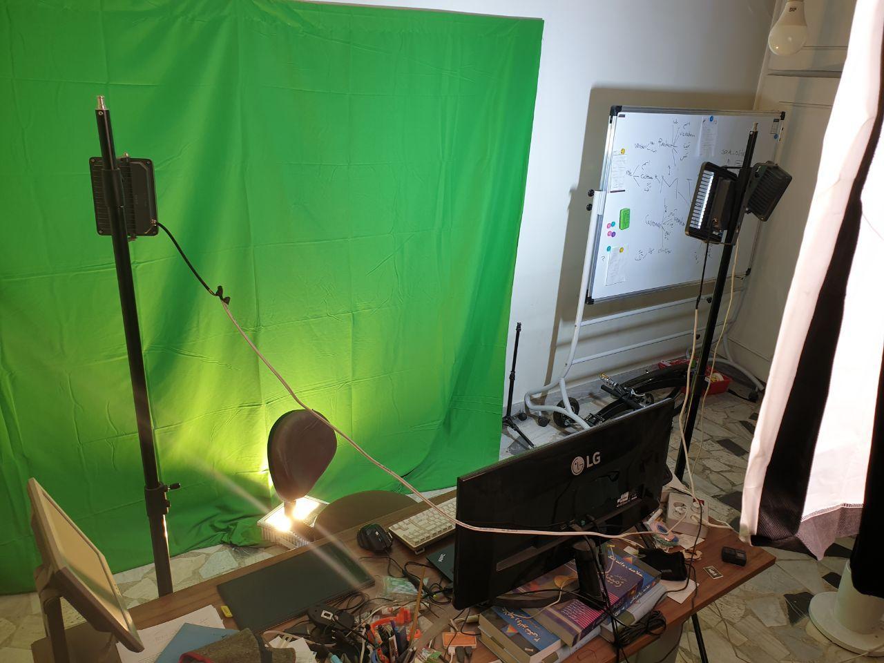 محیط کار جادی برای ضبط ویدئوهای آموزشی + دو درس از زندگی (: