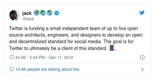 توییتر در تدارک یک «استانداردِ بازِ نامتمرکز» برای شبکههای اجتماعی است