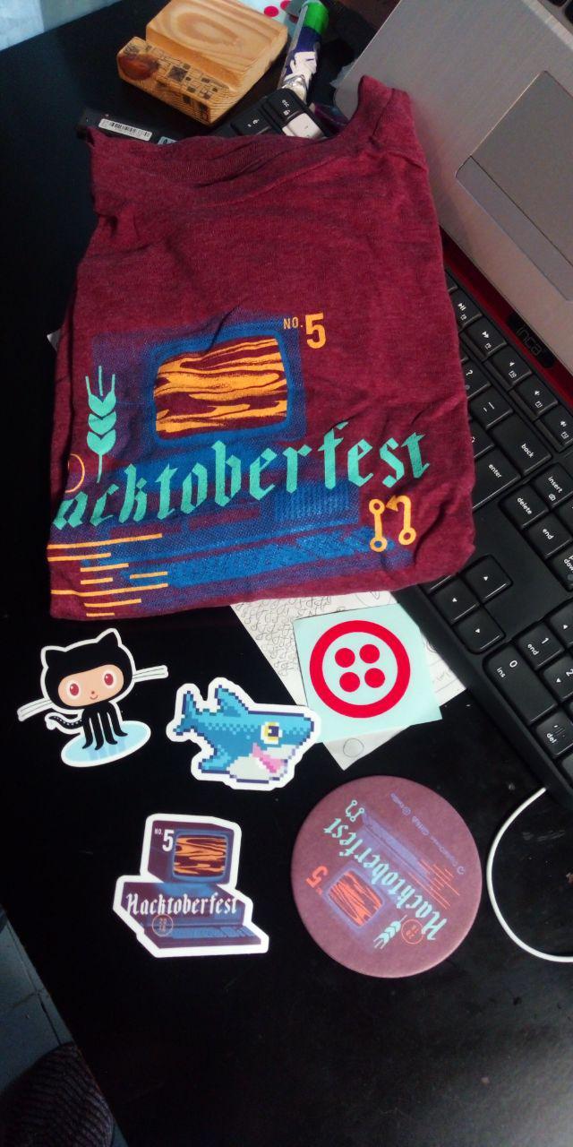 آنباکس تی شرت به همراه سوئگ اضافه (: