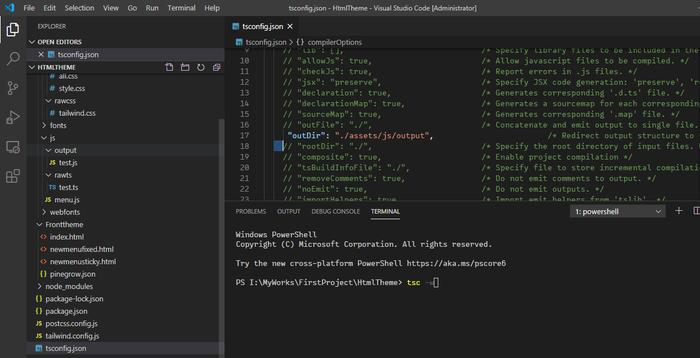 بروز کردن nodejs و typescript و همچنین کامپایل گروهی فایل های ts