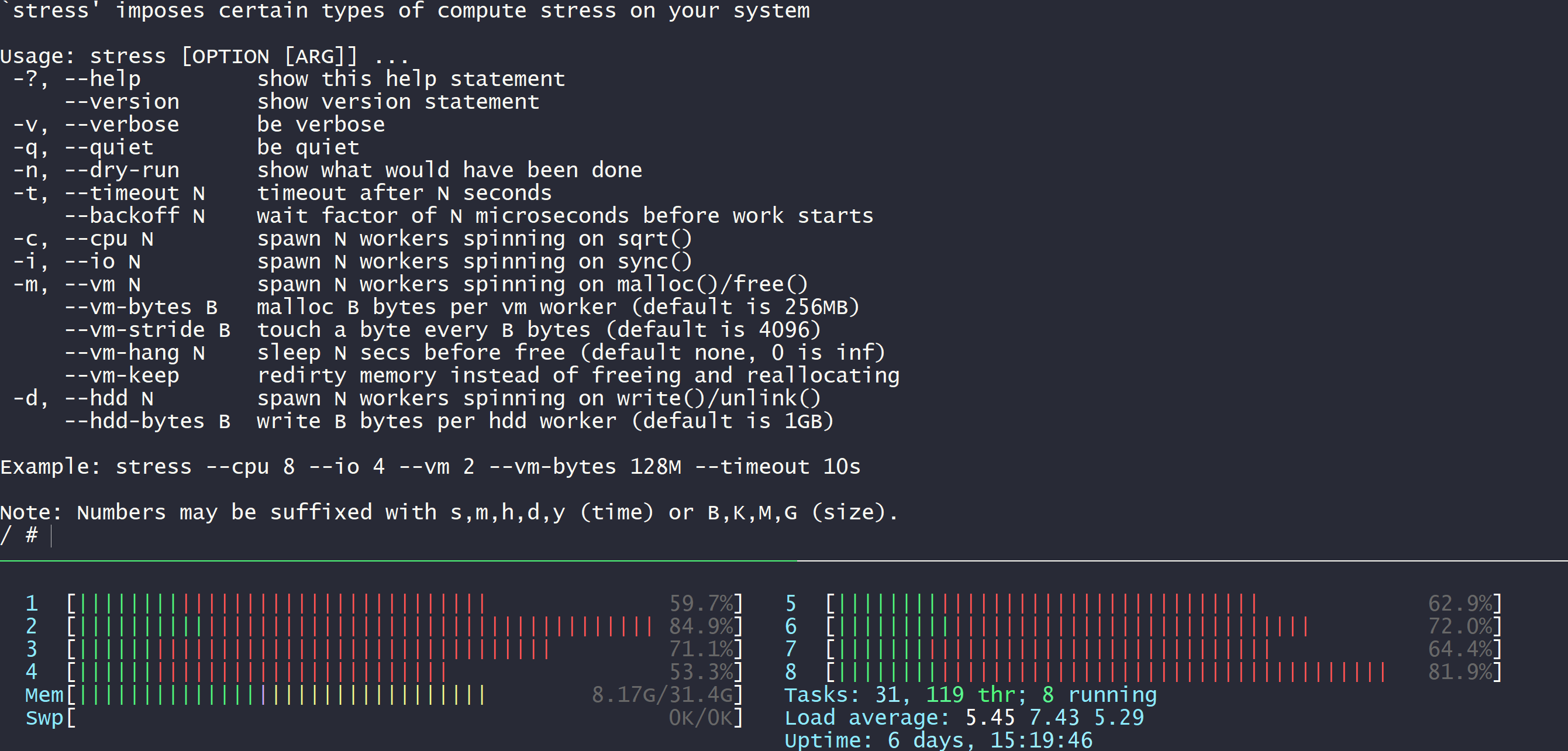 Container Stress test