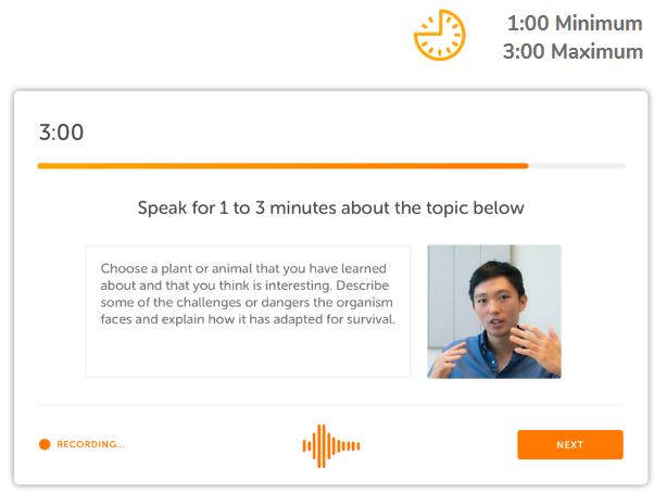 شکل شماره 11 : Speaking Sample