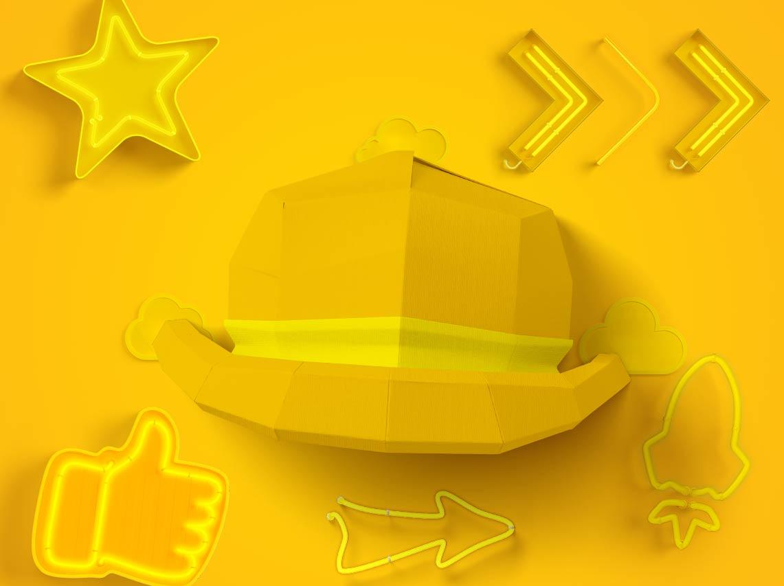 کلاه زردف تداعیگر خورشید جهت مثبتاندیشی و جستجو به دنبال منافعی واقعبینانه