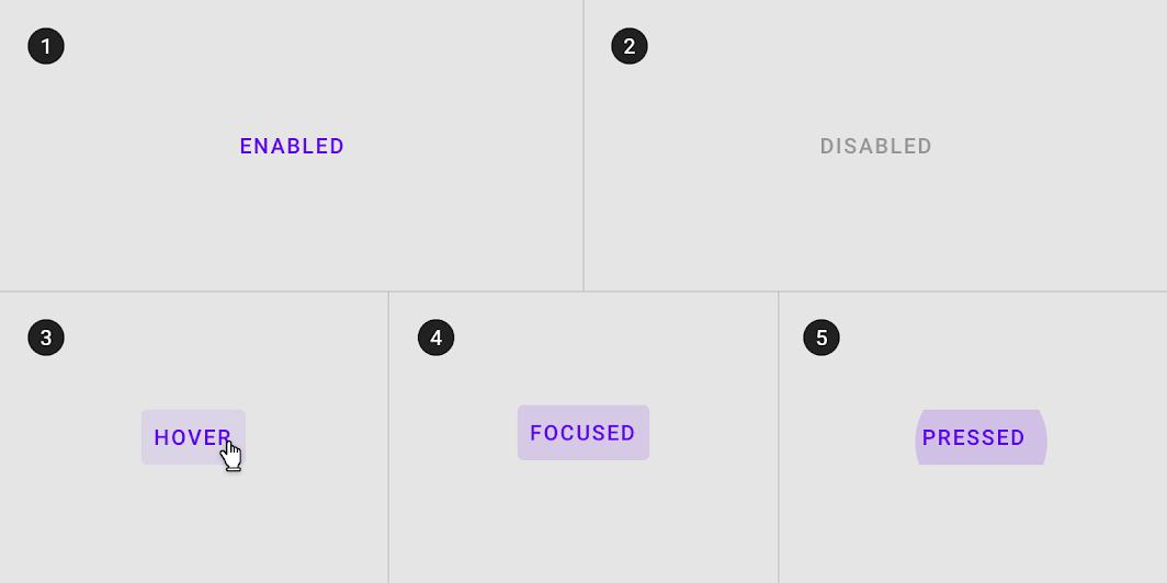 Text button states