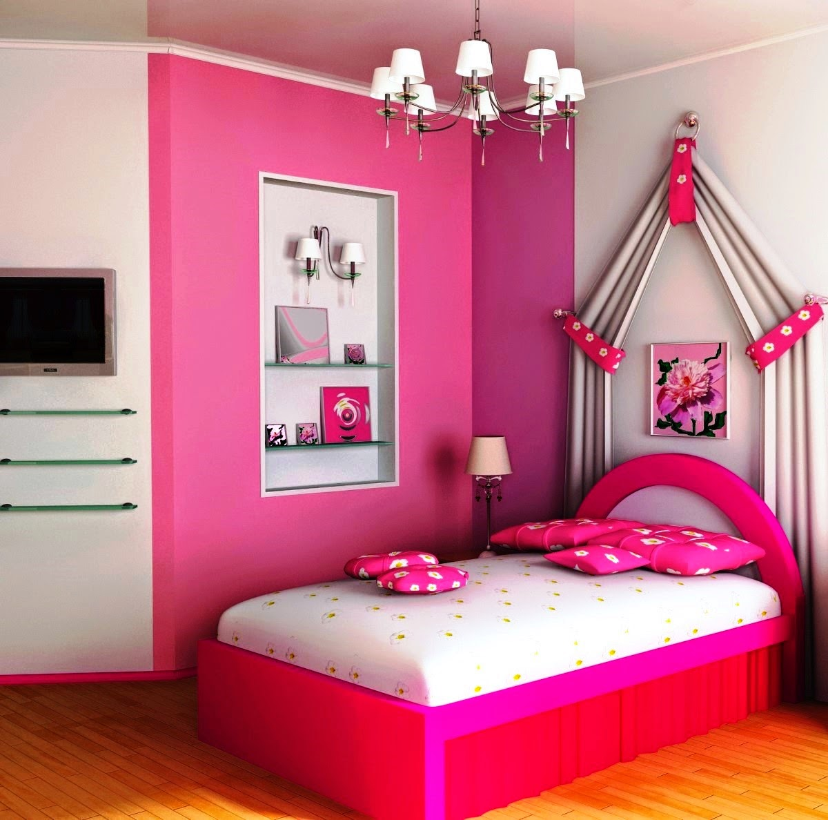 Pretty Room Decorations Pink Girls Bedroom Ideas Pretty: تاثیر رنگ اتاق خواب در کودکان