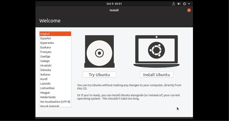 مراحل نصب Ubuntu 19.4 بروی ماشین مجازی قسمت 2.0